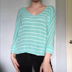 turquoise stripped long sleeve